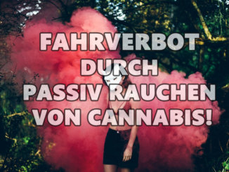 Fahrverbot durch passiv rauchen von Cannabis