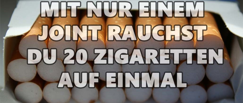 Ein Joint ist so schädlich wie 20 Zigaretten